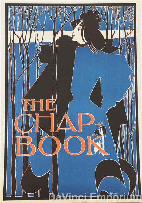 The Chap Book Blue Lady  Poster Lithograph