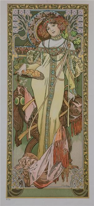 The Seasons Autumn 1899 Fine Art Poster Lithograph