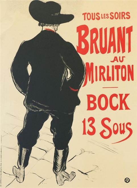 Bruant au Mirliton Bock 13 Sous Lithograph Henri de Toulouse Lautrec