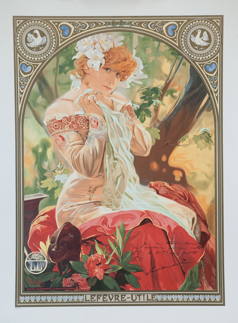 Alphonse Mucha Sarah Bernhardt Lefevre Utile Lithograph