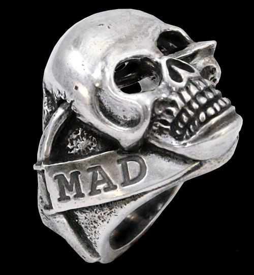 Mad Lancer Ben Styke's Skull Ring in Sterling Silver