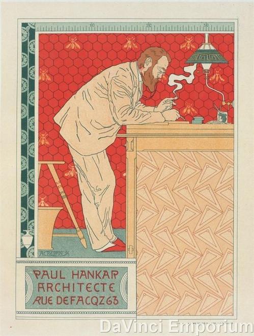 Paul Hankar Architect Poster Fine Art Lithograph
