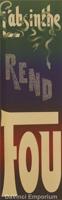 L'Absinthe Rend Fou Poster Fine Art Lithograph
