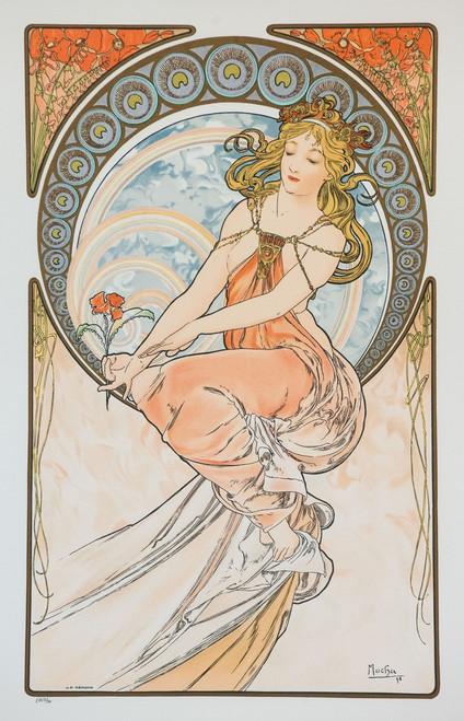 Alphonse Mucha The Arts Painting Lithograph