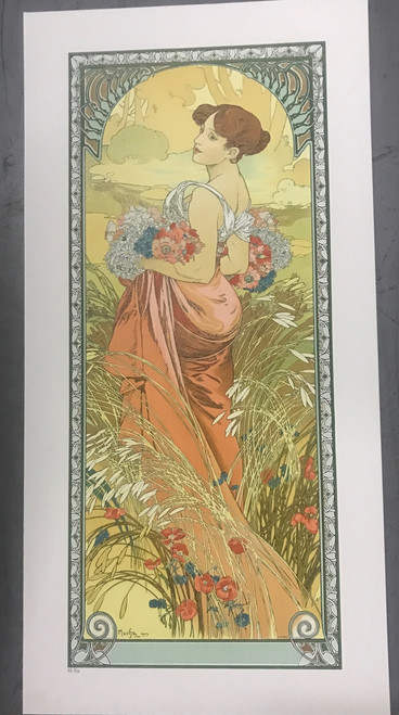 Alphonse Mucha The Seasons Summer 1900 Museum Edition Lithograph