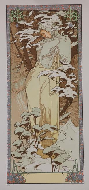 Alphonse Mucha The Seasons Winter 1900 Lithograph
