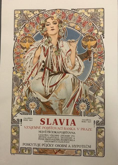 Alphonse Mucha Slavia 1896 Lithograph