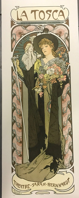 Alphonse Mucha La Tosca Sarah Bernhardt Lithograph