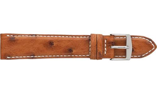 Padded an Stitched Genuine Ostrich Watch Strap