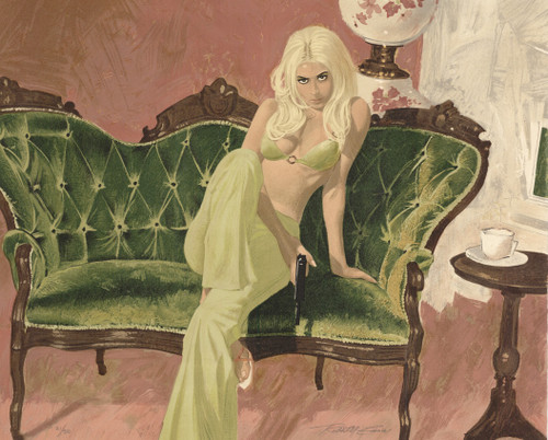 Lie Down Killer Lithograph by Robert McGinnis