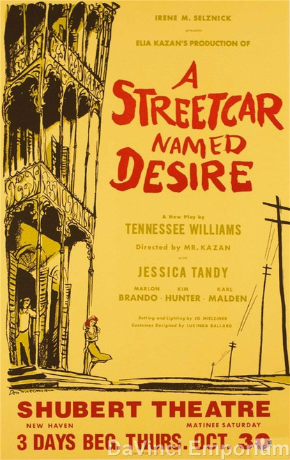 Streetcar Named Desire Playbill Fine Art Lithograph