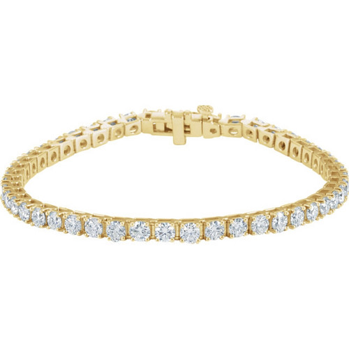 18k Gold 7CTW Diamond Tennis Bracelet