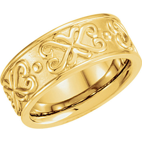 18k  Yellow Gold Etruscan Style Wedding Band