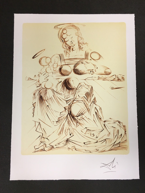 Disintegrating Mother and Child Fine Art Lithograph Salvador Dali