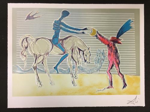 Don Quixote The Gift of Mandrino Fine Art Lithograph
