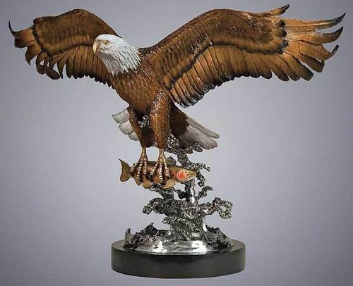 Bald Eagle Original Bronze Sculpture by Fred Boyer