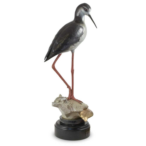 Black Necked Stilt Original Bronze Sculpture by Mike Curtis