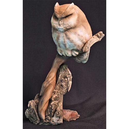 Cheshire Screech Owl Original Wood Carving by Jim Maas