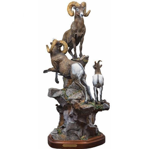 King of the Mountain Original Bronze Sculpture by Fred Boyer