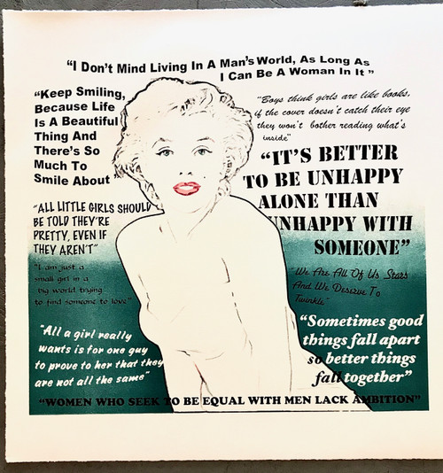 Ms Monroe Quotes Limited Edition Lithograph