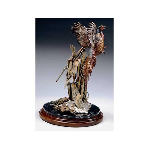 Ringneck Rising Pheasant Original Bronze Sculpture by Frank Divita