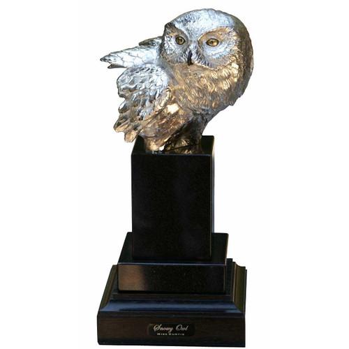 Snowy Owl Original Bronze Sculpture by Mike Curtis