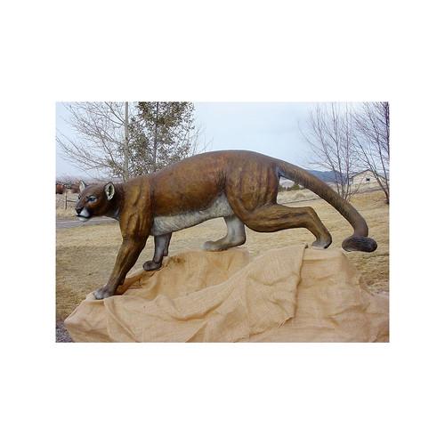 Timber Stalker Mountain Lion Original Bronze Sculpture by Fred Boyer