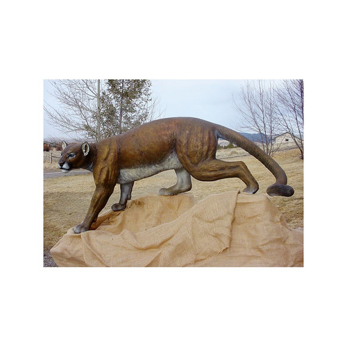 Timber Stalker Mountain Lion Original Bronze Sculpture by Fred Boyer