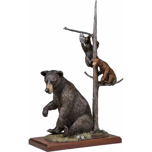 Trouble Bruins II Original Bronze Sculpture by Fred Boyer