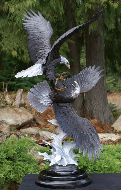 Wings of Courtship Original Bronze Sculpture by Mike Curtis