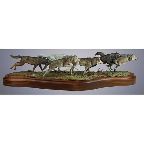 Wolf Pack Original Bronze Sculpture by Fred Boyer