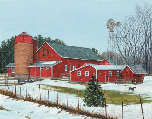 December Dusting Original Acrylic Painting by Rollie Brandt