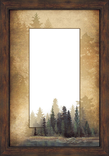 Misty Forest Large Decorative Mirror by Bob Metropulos