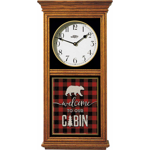 Welcome to Our Cabin Regulator Clock