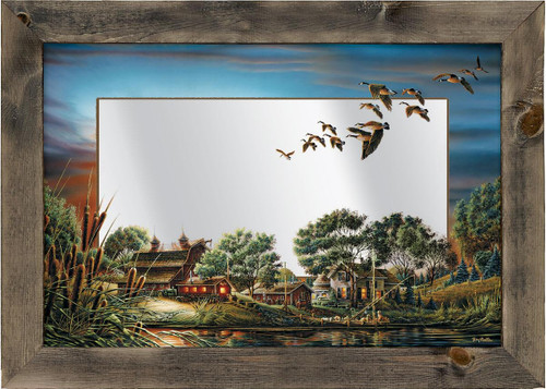 Lazy Afternoon Farm Large Decorative Mirror by Terry Redlin