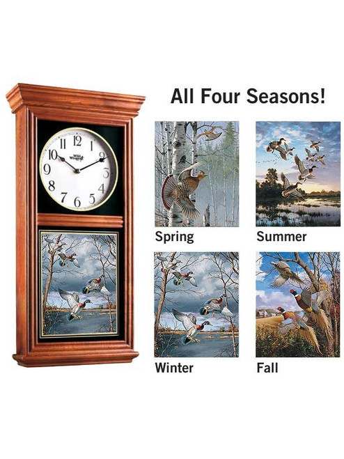4 Seasons Gamebird  Oak Regulator Clock by David A Maass