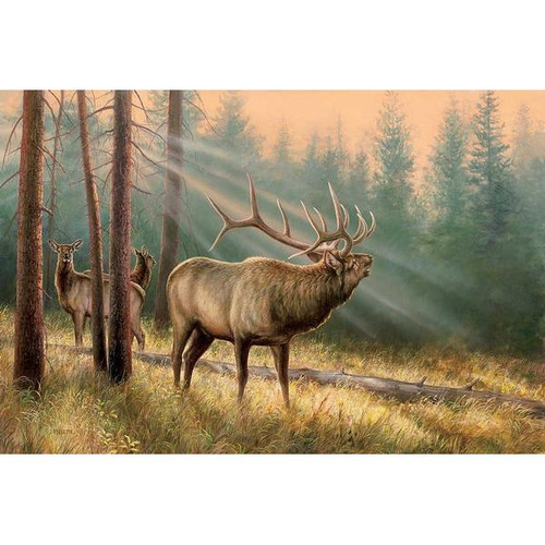 Answering the Call Elk Original Acrylic Painting by Rosemary Millette