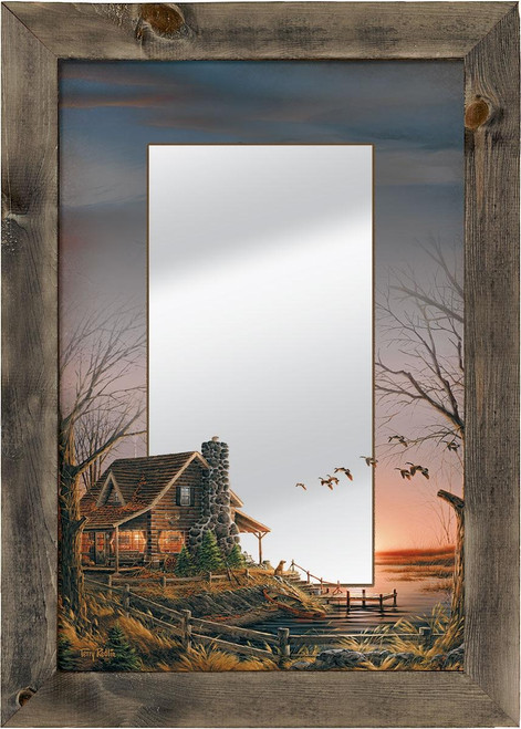Comforts of Home Cabin Decorative Mirror by Terry Redlin