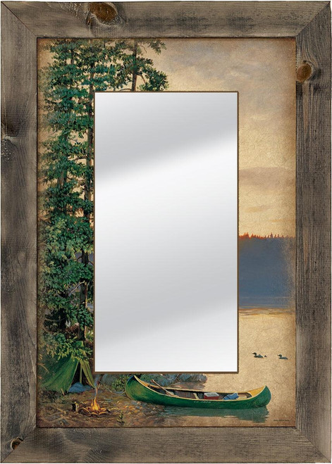 Summer Sunrise Camping Scene Decorative Mirror by Persis Clayton Weirs