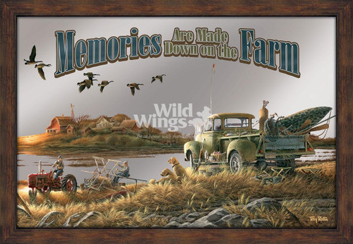 Memories are Made Down on the Farm Framed Mirror by Terry Redlin