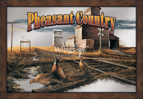 Pheasant Country Framed Mirror by Terry Redlin