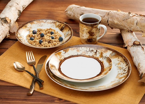 Hardwood Forest 16 Piece Dinnerware Set by Susan Knowles Jordan