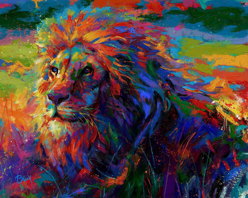 King of the Jungle Original Oil Painting by Blend Cota