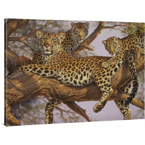 The Family Tree, Leopards Gallery Wrapped Canvas by Lee Kromschroeder