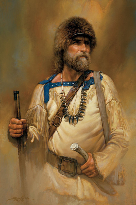 A Noble Time Mountain Man Original Oil Painting by Russ Docken