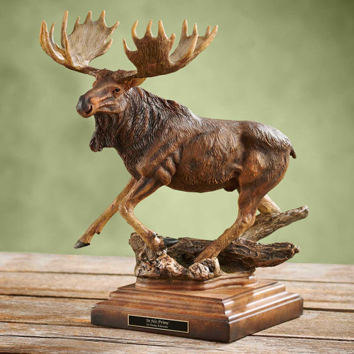 In His Prime Moose Sculpture by Danny Edwards