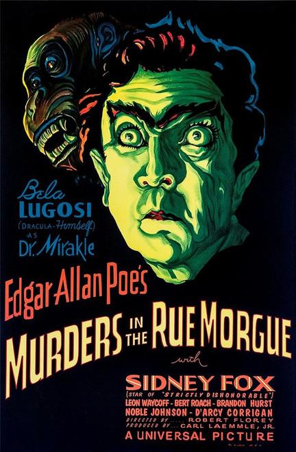 Murders in the Rue Morgue Fine Art Poster Lithograph