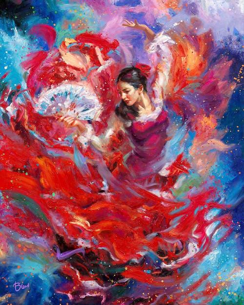 Flamenco Dance Original Oil Painting by Blend Cota