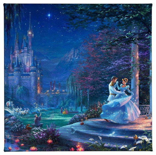Cinderella Dancing in the Starlight Gallery Wrapped Canvas by Thomas Kinkade Studios