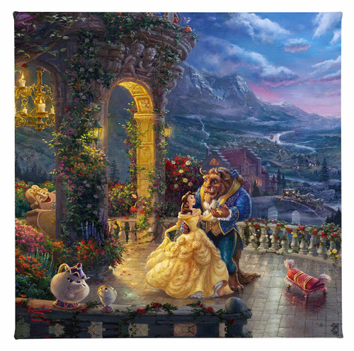 Beauty and the Beast Dancing in the Moonlight Gallery Wrapped Canvas by Thomas Kinkade Studios